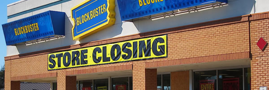 Tech killed the chain store Blockbuster