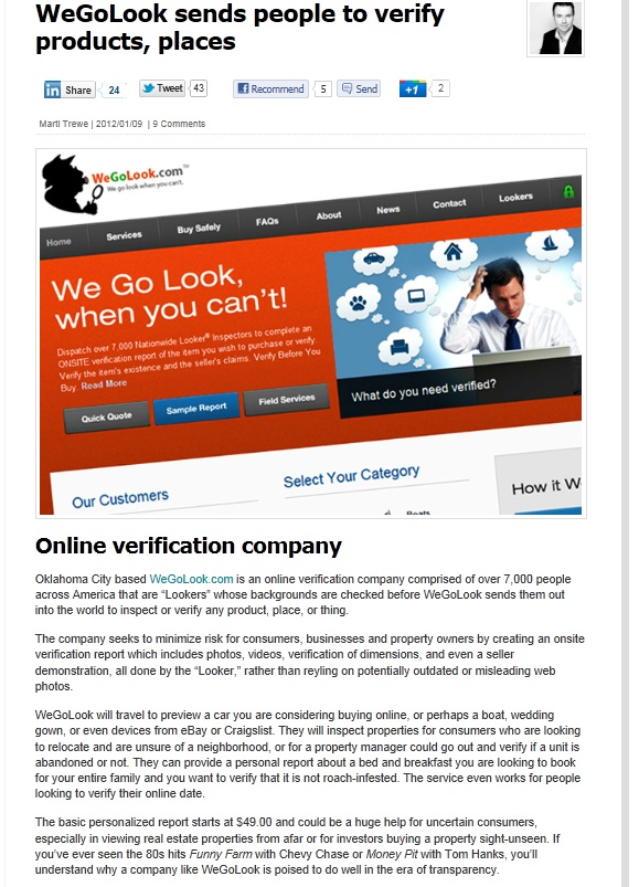 Within Era of Transparency…WeGoLook Poised To Do Well