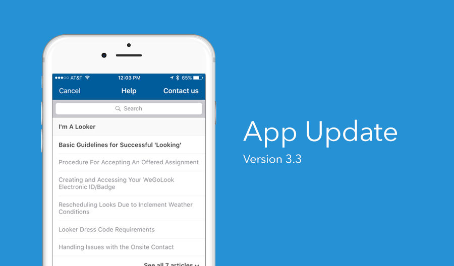 New Features: Better Support Options in the WeGoLook App
